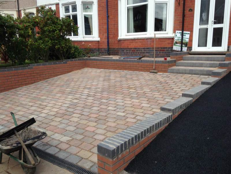 recent project carried out for block paving work