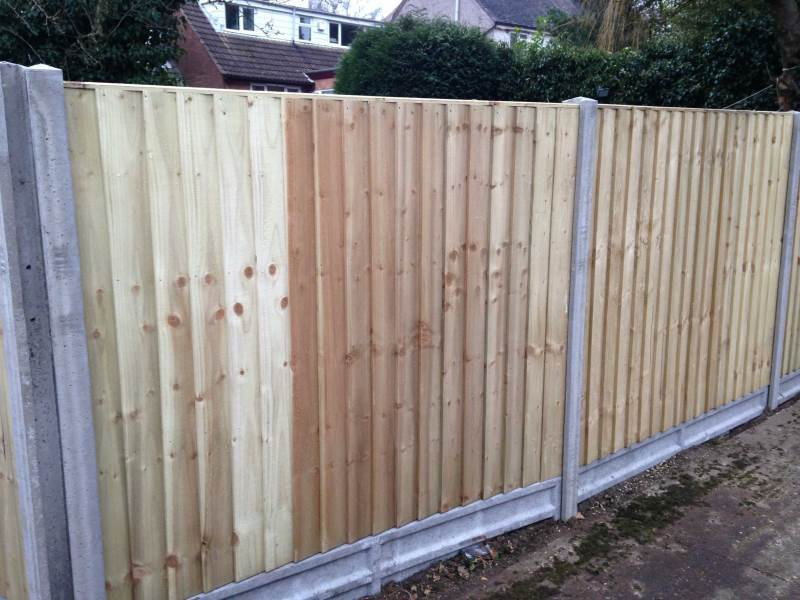 fencing project in bedworth