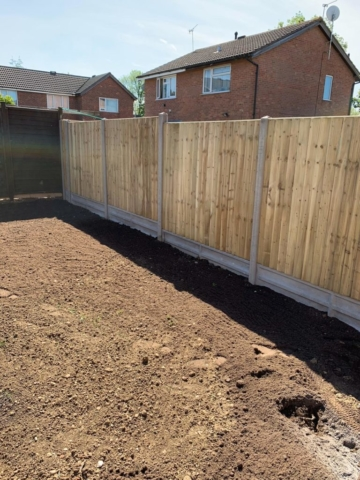 Start of garden landscaping project in atherstone